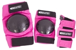 bullet safety padset standard junior black pink blue triple
