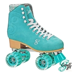 candi,girl,roller,skates,carlin,teal,disco