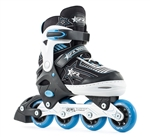 sfr,inline,pulsar,skates,blue,kids,adjustable