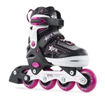 sfr,inline,skates,pink,kids,adjustable