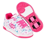 heelys,junior,dual,up,white,pink,multi