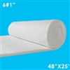 1 inch thick ceramic fiber blanket 48 inches wide 25 feet long