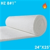 8 pound HZ Ceramic fiber blanket 24 inches wide and 25 feet long