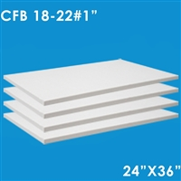 4 ceramic fiber boards dimensions 1x24x36