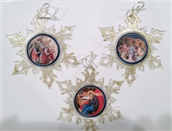 Nativity Snowflake Ornaments Set/3