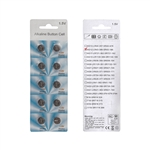 10BAG12 Multipurpose Long Lasting Alkaline Button Coin Cell Battery 1.5V LR43, Pack of 10