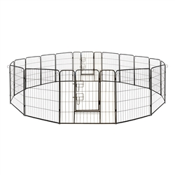 ALEKO 2DK32X32 Heavy Duty 32 X 32 Inches (0.8 X 0.8 m) Pet Playpen 16 Panel Dog Kennel