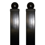 "ALEKO® Gate Post 8' x 3.5"" x 3.5"" for Driveway Steel Gates -Set of 2"