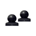 ALEKO Medium Cap for Gate Post 2.5 X 2.5 Inches (6.4 X 6.4 cm) for Driveway Iron Gates, Black, Lot of 2