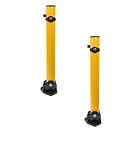 ALEKO® 2SBL-FD2 Folding Parking Bollard, Lot of 2