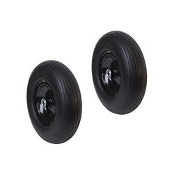 ALEKO 2WBNF13 Flat Free Replacement Wheels for Wheelbarrow 13 Inch (33 cm) No Flat Tire, Black, Set of 2 Tires