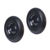 ALEKO 2WBNF16 Flat Free Replacement Wheels for Wheelbarrow 16 Inch (40.6 cm) No Flat Tires, Set of 2, Black