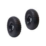 ALEKO 2WNF10 Flat Free Replacement Wheels for Wheelbarrow 10 Inch (25.4 cm) No Flat Tires, Black