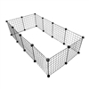 Multipurpose DIY Pet Playpen and Organizer - 24 -Panel - Black - ALEKO