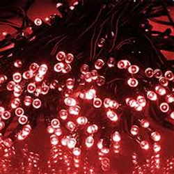 ALEKO® 60 LED Solar Powered Christmas String Lights, Red