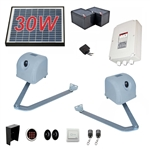 Articulated Gate Opener for Dual Swing Gates - AA1100 - Solar Kit 30W - ALEKO