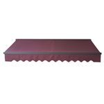 Retractable Patio Awning 12x10 Feet - Burgundy with Black Frame - ALEKO