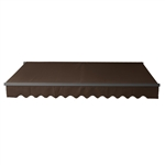Retractable Patio Awning 13x10 Feet - Brown with Black Frame - ALEKO
