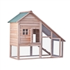 Multi Level Wooden Chicken Coop or Rabbit Hutch - 55 x 26 x 47 Inches - ALEKO