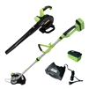 ALEKO® AGTLB36V Leaf Blower and String Grass Trimmer NiZn Combo Kit, 36-Volt