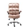 Upholstered Fabric Luxury Office Chair - Metallic Dust Rose - ALEKO