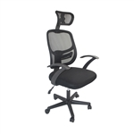 ALEKO® ALCM139HBL Ergonomic Mesh Office Chair with Adjustable Headrest