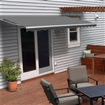 Retractable Patio Awning - 12x10 Feet - Gray - ALEKO