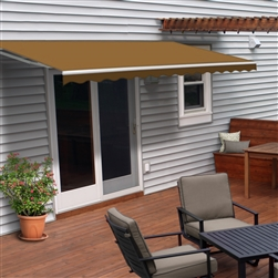 ALEKO® Retractable Patio Awning SAND Color - 13FT x 10FT