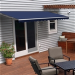 Motorized Retractable Patio Awning - 12X10 Feet - Blue - ALEKO