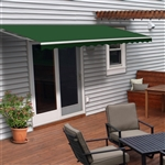 Motorized Retractable Patio Awning - 12X10 Feet - Green - ALEKO