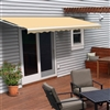 Motorized Retractable Patio Awning - 12X10 Feet - Ivory - ALEKO