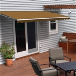 Motorized Retractable Patio Awning - 12X10 Feet - Sand - ALEKO
