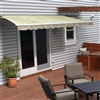 Motorized Retractable Patio Awning - 20X10 Feet - Multi Striped Sunset - ALEKO