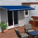 Motorized Retractable Patio Awning - 6.5x5 Feet - Blue - ALEKO