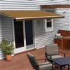 Motorized Retractable Patio Awning - 6.5X5 Feet - Sand - ALEKO