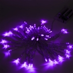 ALEKO 50 LED 19.5 Foot Battery Operated Purple Lights