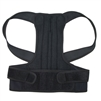 Back and Shoulders Posture Support Brace - Black - Extra Large Size- ALEKO