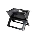 Premium Foldable Outdoor Tabletop Charcoal Barbecue X Grill - Black - ALEKO