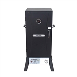 Vertical Offset BBQ Gas Smoker with Temperature Gauge - Black - ALEKO