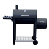 Portable Charcoal BBQ Offset Smoker Grill with Side Fire Box and Shelf - Black - ALEKO
