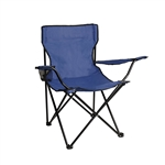 ALEKO BC01 Foldable Outdoor Camping Chair, Dark Blue