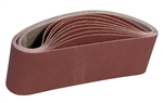 "4"" x 24"" 100 GRIT Abrasive Belt with Cotton Fiber Backing"