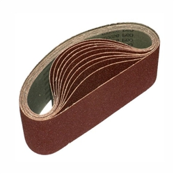"3"" x 21"" 180 GRIT Abrasive Belt with Cotton Fiber Backing"