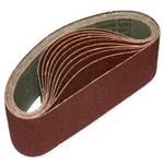 "3"" x 18"" 200 GRIT Abrasive Belt with Cotton Fiber Backing"