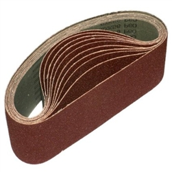 "3"" x 21"" 80 GRIT Abrasive Belt with Cotton Fiber Backing"