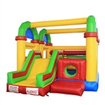 Commercial Grade Open Roof Inflatable Bounce House with Slide and Blower - ALEKO