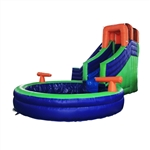 Commercial Grade Outdoor Inflatable Bounce House Water Slide with Pool and Blower - ALEKO