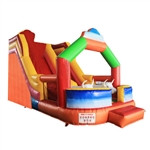 Commercial Grade Outdoor Bounce House with High Dry Slide and Blower - Inflatable Bull Design - ALEKO