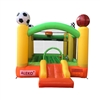 Inflatable Playtime 4-In-1 Bounce House with Basketball Rim, Soccer Arena, Volleyball Net, and Slide - ALEKO