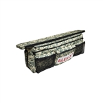 Waterproof Inflatable Boat Seat Cushion with Under Seat Bag and Pockets - 34 x 9 inches - Digital Camouflage - ALEKO